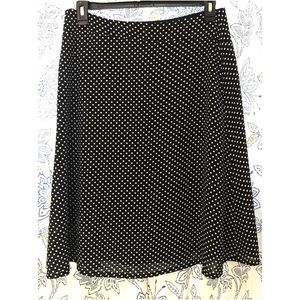 The Limited Navy Polka Dot Skirt on Size L NWT